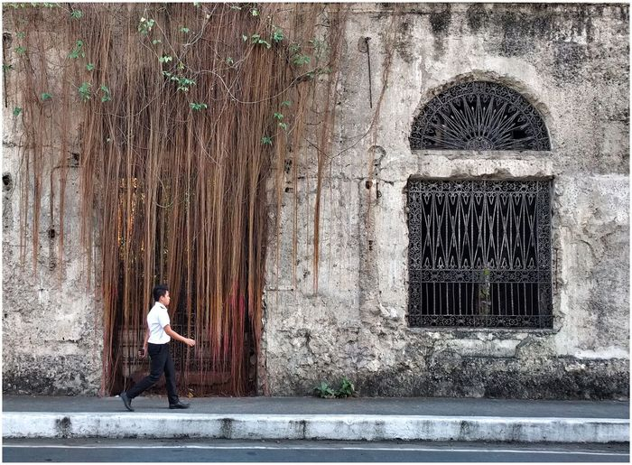 Adapted To The City Intramuros,manila Street Photography Old But Awesome