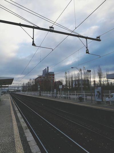Cable Railroad Track Cloud - Sky Power Line  Business Finance And Industry Public Transportation Electricity  Rail Transportation Railroad Station Travel Transportation Railroad Station Platform Electricity Pylon Travel Destinations City Day