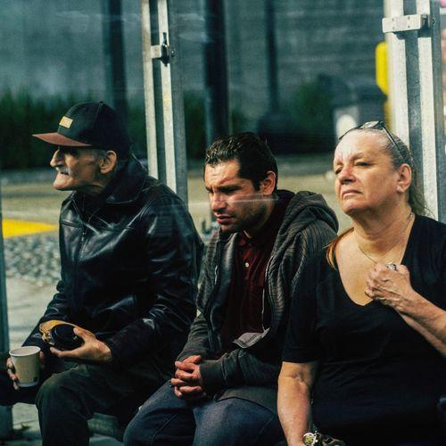 People looking at camera