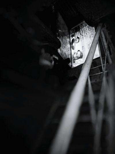 EyeEmNewHere EyeEm EyeEm Bnw India Indian Eyeemphoto Oneplus 2 Blackandwhite Snapseed Doors Doorway Stairs Staircase Latur Maharashtra Indoors  IndoorPhotography Welcome To Black