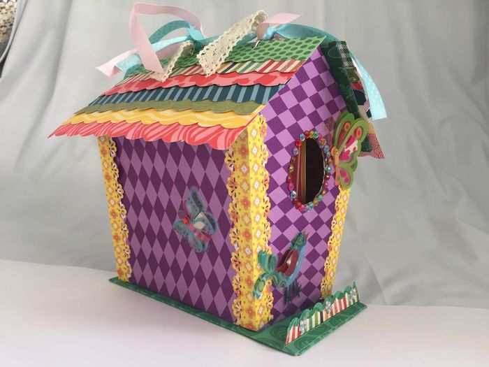 Art for sale!? Scrapbooking Indoors  No People Still Life Multi Colored Art And Craft Pattern Single Object Close-up Textile Gift Paper Table Craft Floral Pattern Wrapping Paper Celebration Box - Container Box Creativity Wrapped