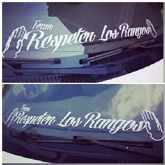 "Team ""Respeten Los Rangos"" Decals Vinyl Stickers white music dominican perthamboy mastercaps dope lettering"
