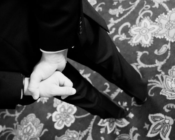 Suit at a wedding Casual Clothing Close-up Cuffs Day Event Focus On Foreground Formal Function Holding Hotel Human Finger Leisure Activity Lifestyles Midsection Part Of Patterns Person Selective Focus Suit Wedding
