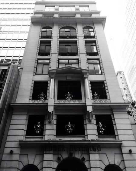 Looking Up to the City I Grew Up in! Skyscraper Cityscape Architecture Building Exterior Low Angle View Architecture Window Built Structure No People Day Outdoors Street Photography Streetphotography Black And White