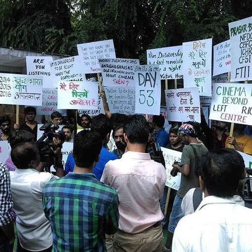 Ministry Protest Strikeison Delhi Indiangoverment Indiangove Government Ftii Ftii SUPPORT Nofear Nocolor Gobackchouhan Strike