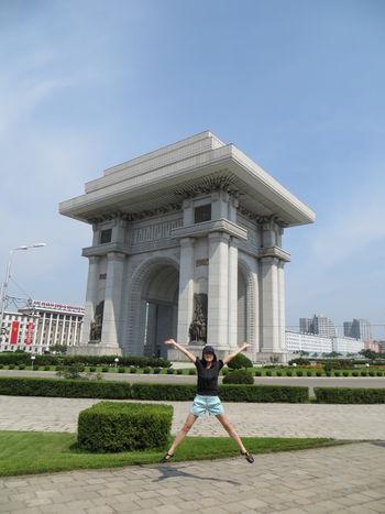 Pyongyangtriumphalarch Wanderlust Adventure Jumpingpic Northkorea Pyongyang
