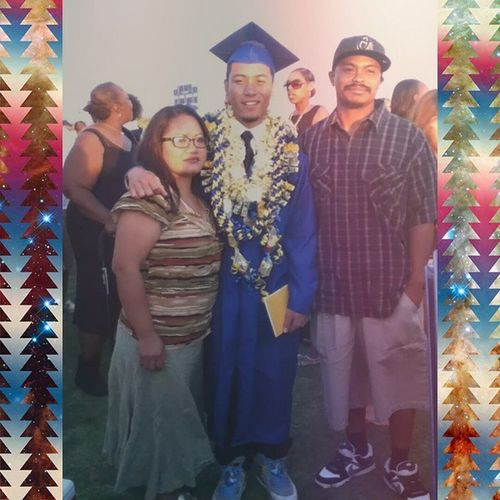 The day I graduated. My mom and stepdad. Graduation TBT  Throwbackthursday  4YearsOfHellForAPeiceOfPaperInACase