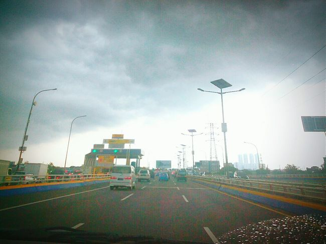 at tol angke jakarta, indonesia