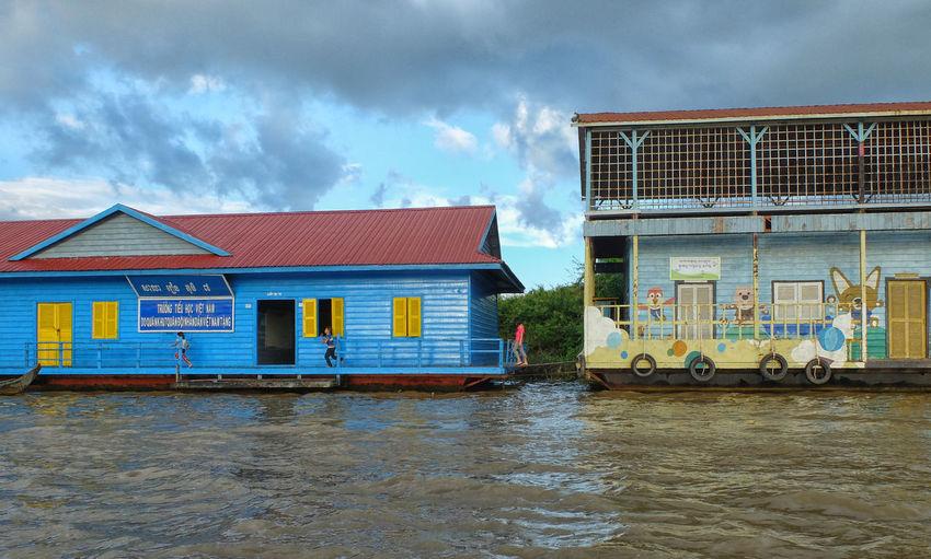 Floating School Tonle Sap Lake Cambodia