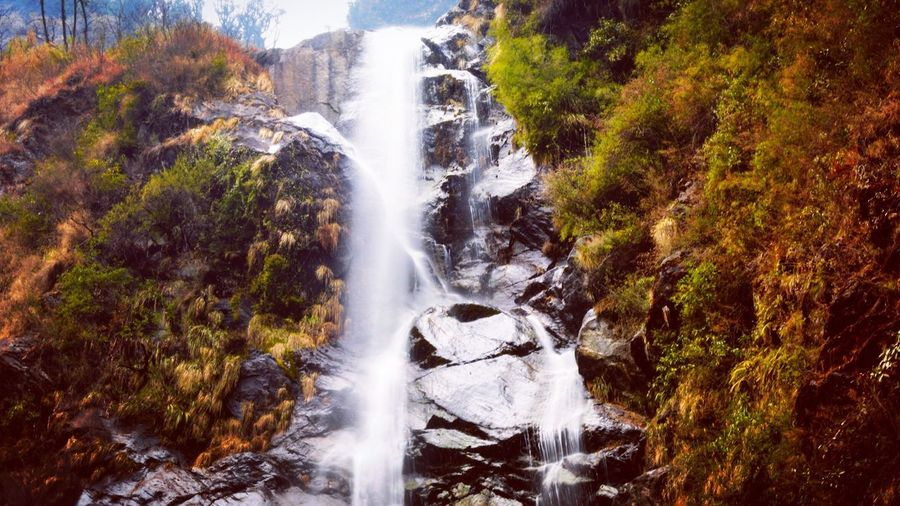 Waterfall Silky Water Water Falls Sikkim India Thingstodoinindia Beauty In Nature Nature Water Tranquil Scene Peace Rock - Object Rocks Long Exposure Blurred Motion Adventure