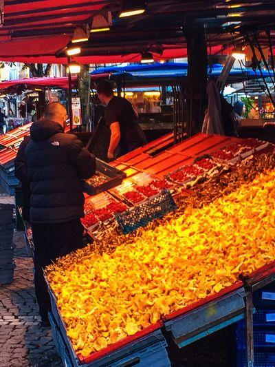 Food Market Stall Freshness Outdoors mushroom Neon Life