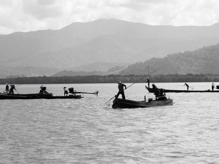 Fishermen Jellyfish Andaman sea Travel Destinations Fishermen Fishermen's Life Travel Photography Naturelovers Nature Photography Landscape Blackandwhite Black & White Blackandwhite Photography The Great Outdoors - 2016 EyeEm Awards
