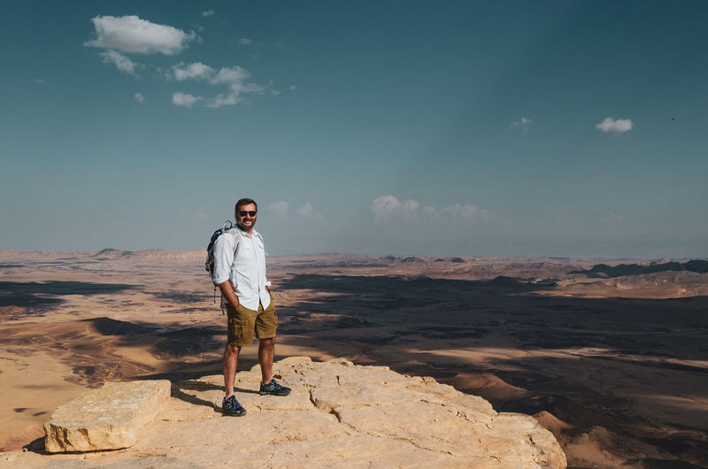 Enjoy your desert! Moments Of Happiness One Person Lifestyles Nature Young Men Outdoors Leisure Activity Real People Desert Trekking Hikingadventures Hiking Israel Enjoying Life Enjoying The Sun Landscape Me Adventure Traveling Travel Photography Happy Happiness It's About The Journey