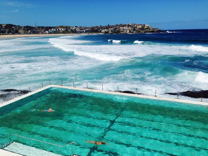 Bondi Beach in Sydney ,Australia Sea Water Swimming Pool Outdoors Day Sky Beach Wave Vacations