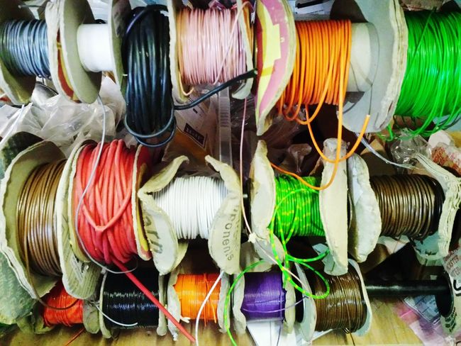 I love workshops, tools, materials, supplies and colour. Colours Colourful Colour Materials Wire Cable Reels Studio Workshop Inside Showcase: January Pink White Yellow Green Blue Work Electrical Electricalengineering Electrician  Eye4photography  IndoorPhotography Indoors  Supplies Macro Beauty