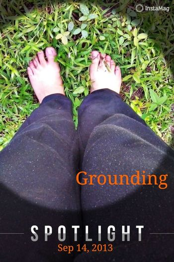 Grounding Earthing Walking Around Relaxing
