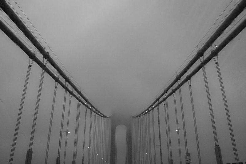 The Architect - 2016 EyeEm Awards Bridge New York Verrazano Bridge Cloudy Day Rainy Days Blackandwhite