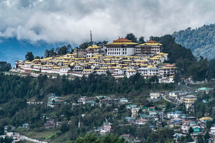 Architecture Built Structure Building Exterior Mountain Cloud - Sky Religion Spirituality Day Outdoors Sky Place Of Worship History No People Travel Destinations Tree Ancient Cityscape City Nature Tawang Buddhist Temple India Tibet Arunachal Pradesh Buddhist EyeEmNewHere