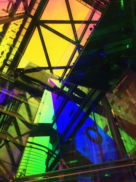 Low Angle View Architecture Built Structure No People Illuminated Building Exterior Indoors  Multi Colored Day City Close-up