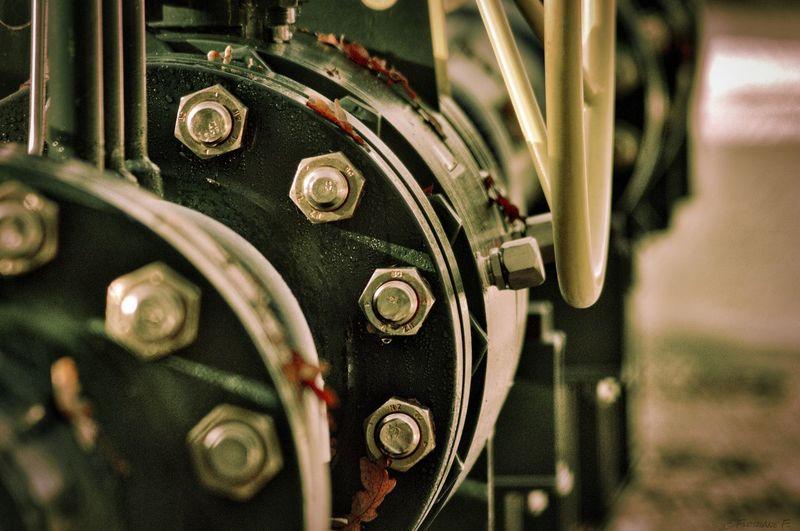 Close-Up Of Metallic Machine