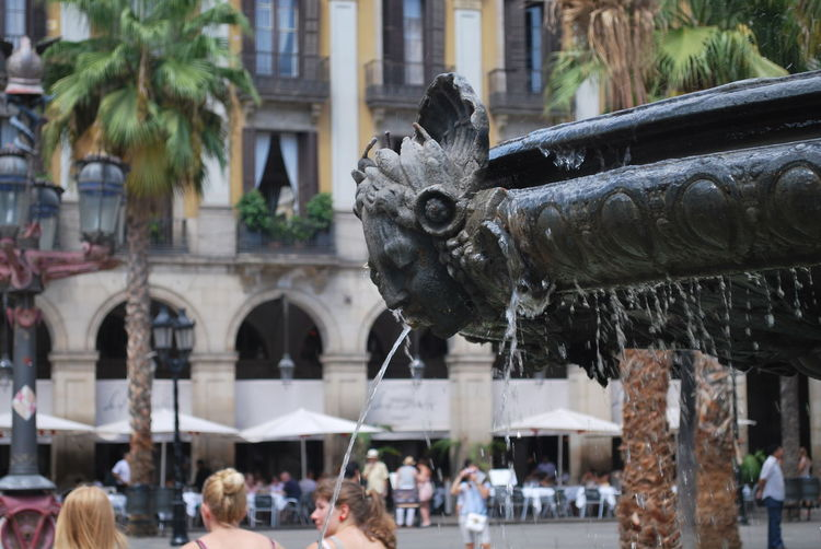 Architecture Barcelona Barcelona, Spain Building Exterior Built Structure Catalonia Catalunya Day Fountain Large Group Of People Outdoors Religion Sculpture Statue Travel Destinations Tree Water