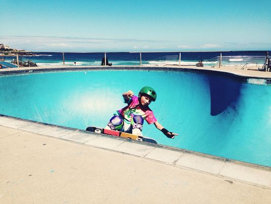 Coolest Kid Ever Skateboarding Made My Day