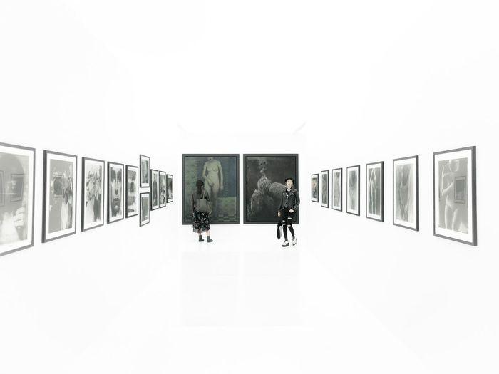 異空間。絵画のような、写真。 Museum Gallery Photography Architecture Built Structure Copy Space Indoors  No People Wall - Building Feature Day White Color Art And Craft