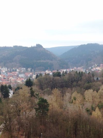 Hill Friedrichroda Thuringen Thuringia Forest City OverviewPoint Overview