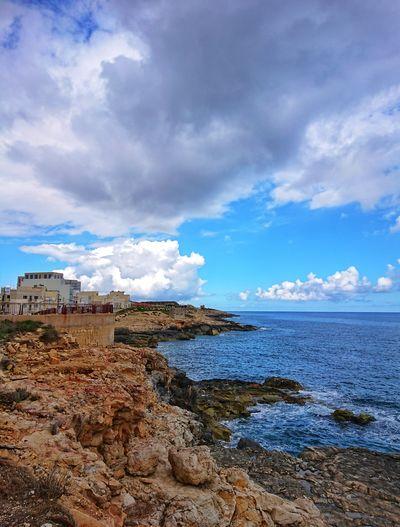 Amazing seascape view of Malta Morning Malta Seascape Sea Beach Summer Blue Sky View Natural Cloud