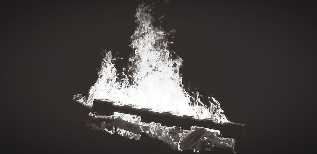 WARMTH - Fire Bonfire Heat Blackandwhite Water Close-up Dissolving Black Background Outdoors