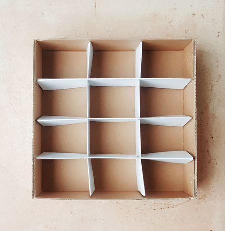 12 Box Brown Carton Carton Box Casket Close-up Day Directly Above Geometric Shape Indoors  No People Paper Paper View Shapes Shapes And Forms Simplicity Square Still Life White Color