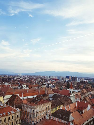 EyeEm Selects Cityscape City Architecture High Angle View Residential Building Town Building Exterior Sky Cloud - Sky No People Outdoors Day Sunset Community Urban Skyline Close-up Sibiu Sibiu Romania History Medieval Travel Destinations Architecture Autumn