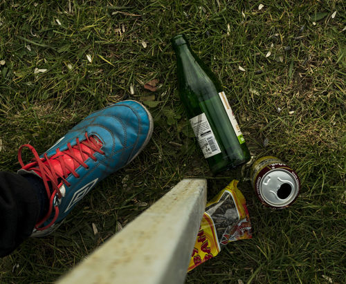 Matchday in Negovan.. Beer Beers Bottle Directly Above Football Footwear High Angle View Hobbies Human Body Part Human Leg Matchday Shoe Showcase: November Still Life Things I Like
