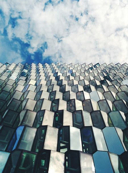 Travel Iceland Reykjavik Harpa Harpareykjavik Glass Olafur Eliasson Olafureliasson Facades Architecture Sky Vscocam VSCO Pivotal Ideas BYOPaper! The Architect - 2017 EyeEm Awards