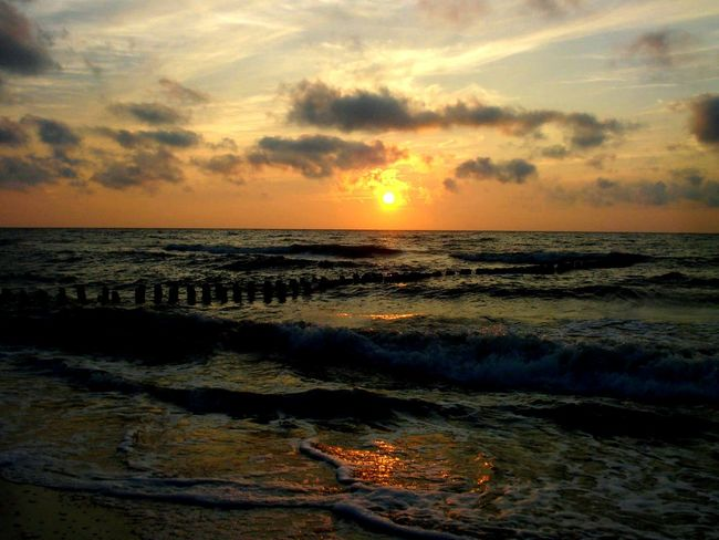 Sunset Sea Beach Sun Dramatic Sky Cloud - Sky Horizon Over Water Landscape Sky Tourism Tranquility Nature Reflection Beauty In Nature Sand Vacations Scenics Silhouette Travel Travel Destinations Poland Mielno Mielno Plaża EyeEm New Here
