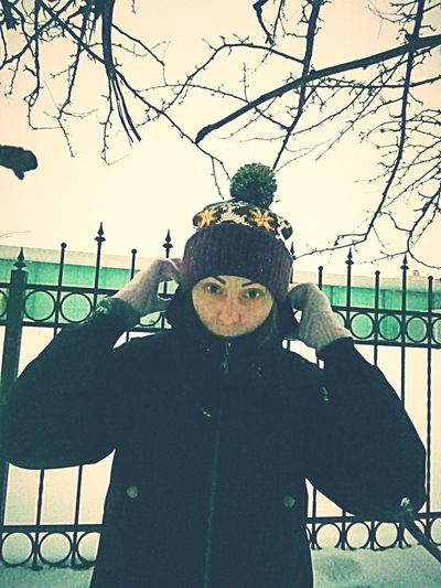 In Hat Snow Winter Salfie Portrait Pose Posing Young Women Girl Cold Cold Temperature Snow Covered Season  Weather