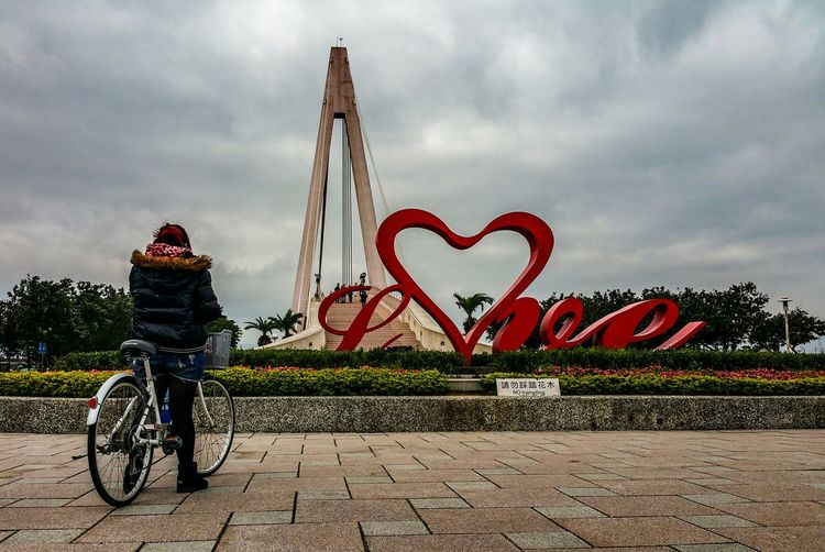 Taiwan Taipei Travel Streetphoto_color Streetphotography Street Photography Fuji X100s FUJIFILM X100S Bridge Bicycle Rider Love Cyclist Lovers Bridge Feel The Journey Street Street Life Cyling Sky Cloud Tourist Attraction