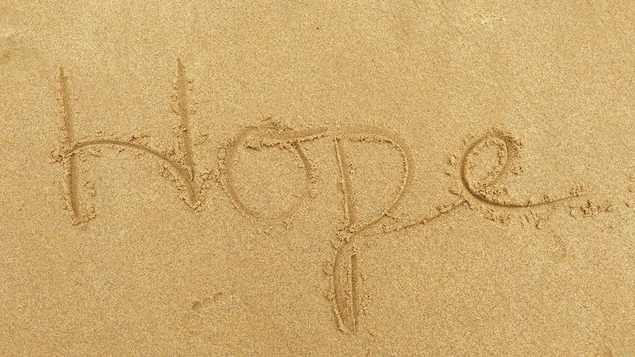 """The word """"hope"""" written in wet sand, reminds us that hope is beautiful and fragile, and it can be washed away quickly but can also return. Words And Letters Take Nothing For Granted Picture Of A Word California Coast Hope Written In Sand Words Written In Sand Hope Fragile Beauty Beautiful Handwriting Dreams And Aspirations Backgrounds Motivational Images Inspirational Words"""
