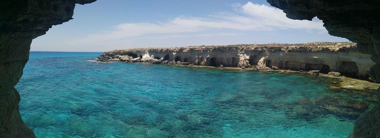 Water Sea Sky Horizon Over Water Nature Blue Beauty In Nature Waterfront Summer Cyprus Zypern Seacaves Seaside Seacave Sea View Places You Must To See Placetovisit