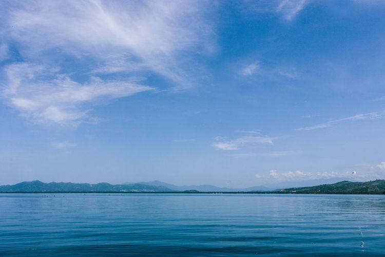 Lake in México Beauty In Nature Blue Cloud - Sky Day Horizon Over Water Landscape Nature No People Outdoors Reflection Scenics Sea Sky Tranquil Scene Tranquility Water Wildlife