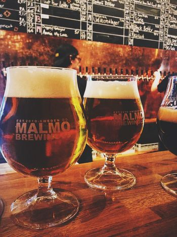 Tons of Beers On Tap in the newly renovated Malmö Brygghus