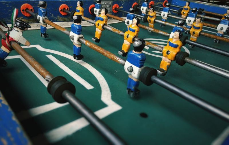 Full frame shot of foosball
