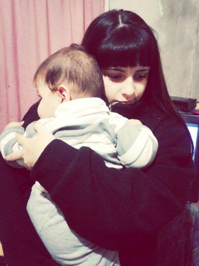 con mi bebote ♥