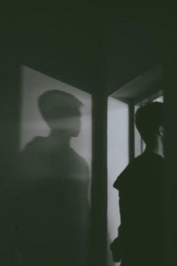 One Person Shadow Men Adult Unrecognizable Person Dark Indoors  Portrait Real People Emotion Mystery Focus On Shadow Headshot Silhouette Waiting