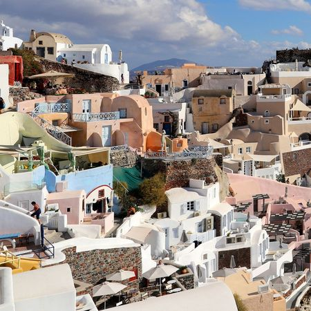 EyeEm Selects Travel Destinations Outdoors Architecture Building Exterior Day Cityscape No People Sky City Greece Santorini Island Greece2017 Greece Island Sea Greek Islands Landscape Greek Symbols Architecture History Lava Beauty In Nature Tranquility