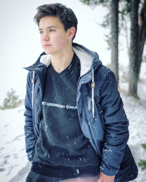 Teenager Teenager Boy Cold Temperature One Person Snow Outdoors Young Adult One Man Only Day Tree People Only Men