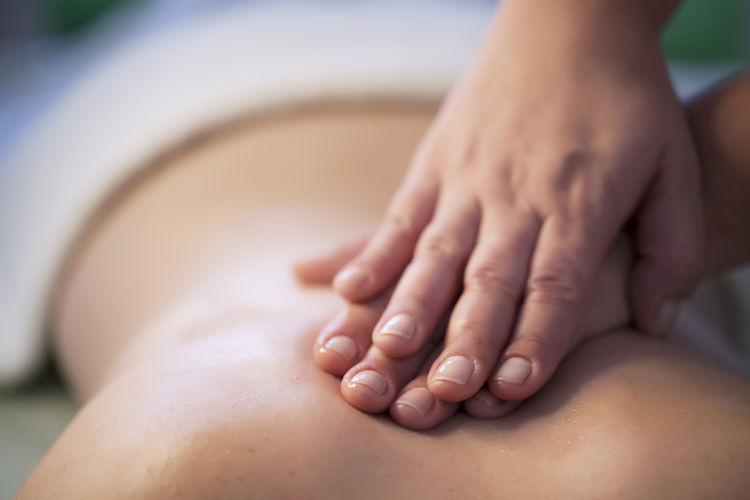 Back Beauty Beauty Spa Body Care Hands Healthy Lifestyle Horizontal Human Back Human Body Part Massage Pampering People Person Relaxation Relaxing Spa Therapy Wellbeing Young Adult Young Women