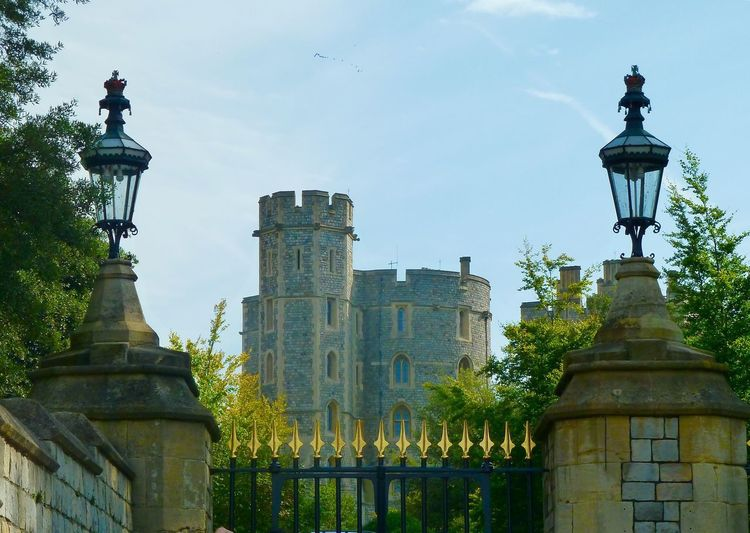 Windsor Royal Wedding Royalty Windsor Castle Architecture Built Structure Statue Building Exterior Day Outdoors No People Tree Low Angle View Sky Nature