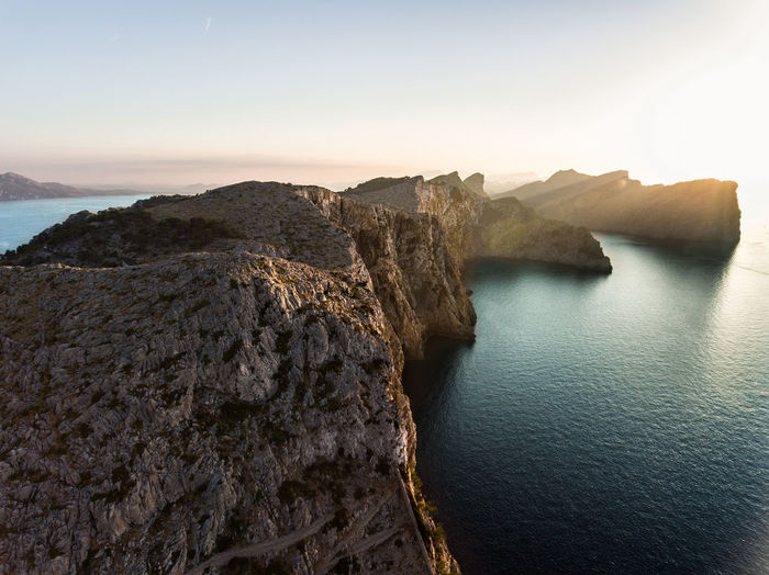 the sunset II Aerial Photography Aerial View Aerial View Of Manchester Beauty In Nature Cliff Nature Outdoors Rock - Object Rock Formation Sea Tranquility Travel Destinations Water