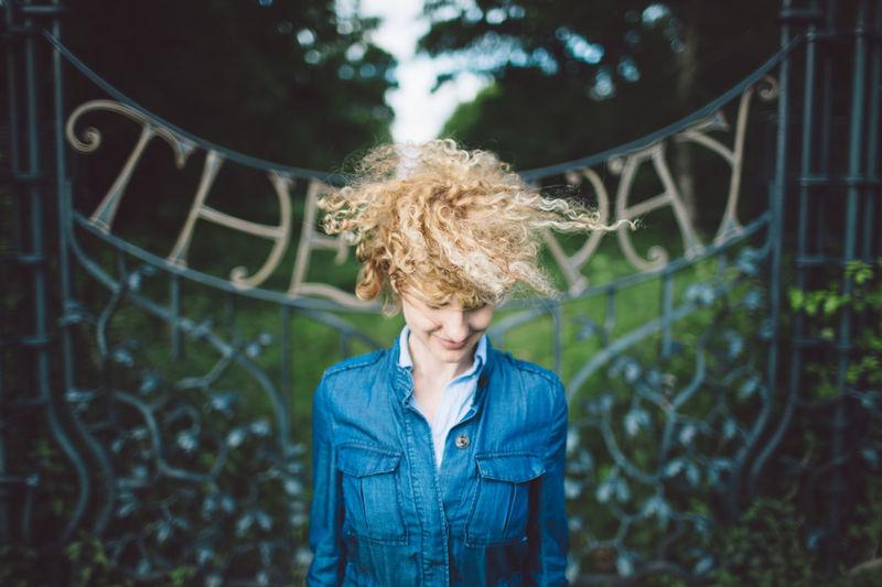 Curly Hair Forest Gate Girl Park Portrait Portrait Of A Woman Richmond Park, London Swirl